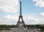 La Torre Eiffel, simbolo di Parigi, ripresa dalla piazza del Trocadéro